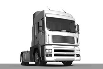 Truck, LKW, Zugmaschine, freigestellt
