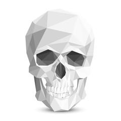 Colorful geometric low poly skull. Vector triangular skull