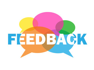 Vector FEEDBACK Icon with Speech Bubbles
