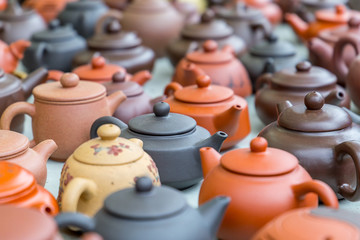 Many Beautiful Teapots in Hong Kong Market