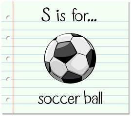 Flashcard letter S is for soccer ball