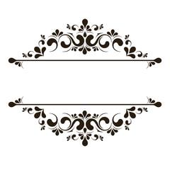 Elegant frame banner, floral elements. Vector illustration.