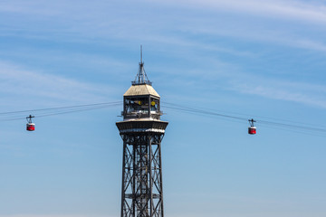 Cable way in Barcelona