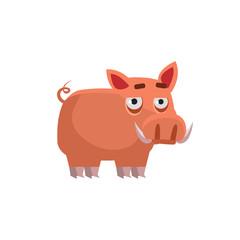 Wart Hog Funny Illustration