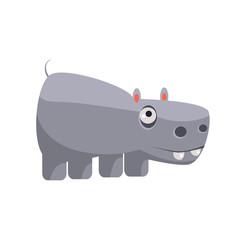Hippo Funny Illustration