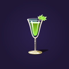 Herbal Cocktail Illustration