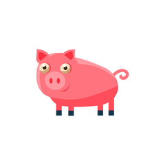 Pig Simplified Cute Illustration