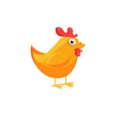 Chicken Simplified Cute Illustration