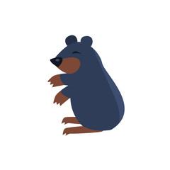 Sleeping Bear Simplified Cute Illustration