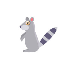 Toy Raccoon Simplified Cute Illustration