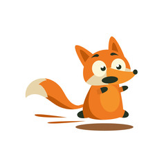 Fox Running Away