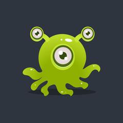Green Octopus Alien