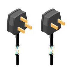 Isometric vector illustration of a power failure blackout icon.