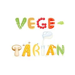 Vegetarian food letter