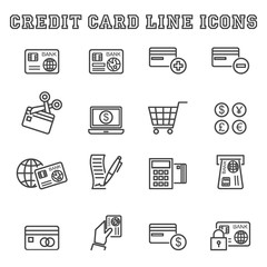 credit card line icons