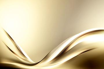 Fractal Abstract Gold Wave Design Background