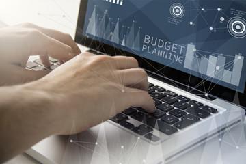 Obraz budget planning techie working - fototapety do salonu