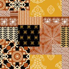 Patchwork fabric bandana