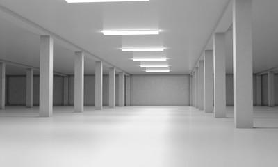 Underground parking area. 3d render image. 3d