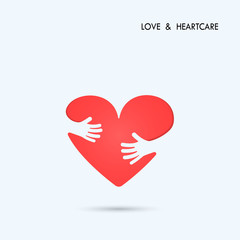 Love Heart Care logo.Healthcare & Medical symbol