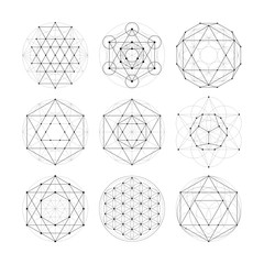 Sacred geometry. Numerology astrology signs and symbols