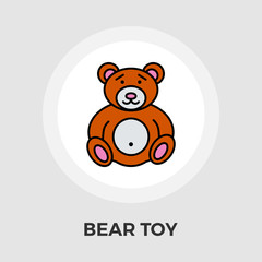 Bear Toy Flat Icon