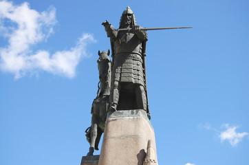 Monument to Grand Duke Gediminas - Vilnius - Lithuania Wall mural
