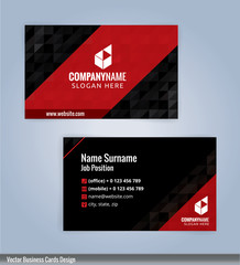 Modern business card template, Illustration Vector 10