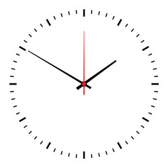clock vector isolated on white