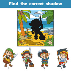 Find the correct shadow. Find pirate by shadow