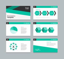 presentation template .info graphic element design template .green black color