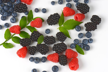 Variety of berry fruits