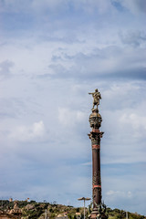 La colonne Christophe Colomb, vers la Rambla