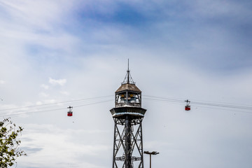 Le téléphérique du port de Barcelone