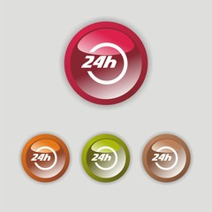 24 h services icon four buttons