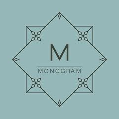 graceful monogram design