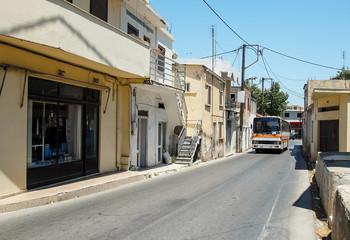 narrow streets of the Greek city of Rhodes Kremasti Greece