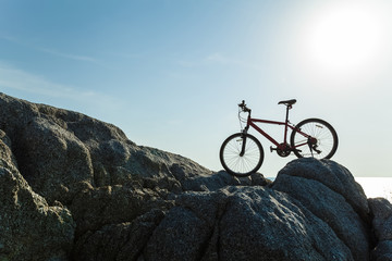 Bicycle on the rock