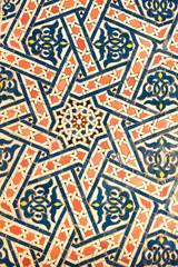 ceramic mosaic with traditional moorish pattern