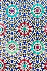 ceramic mosaic with traditional moorish geometric pattern