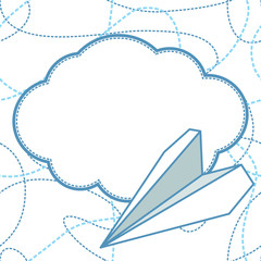 Paper Planes and Clouds Vector Background