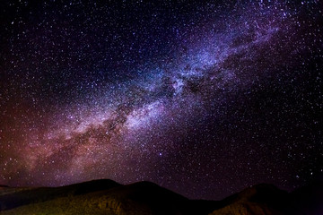 The Milky Way. Image taken in Morocco at summer