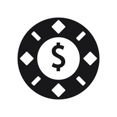 Gambling chips icon