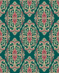 Acrylic Prints Moroccan Tiles Floral green ornament.