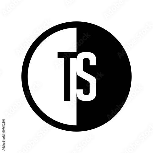 """"""" INITIAL CIRCLE HALF LOGO TS"""" Stock Image And Royalty-free"""