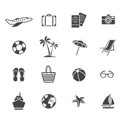 Vacation Graphic Flat Icons Set