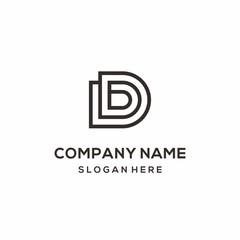 Monogram Letter D Architecture Logo