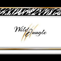Wild tropical jungle background with tiger pattern.