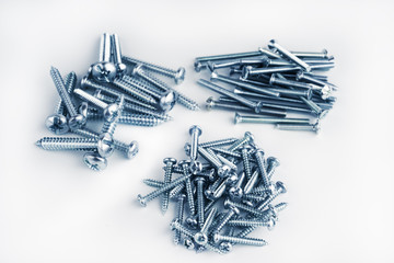 Pile of new different screws toned