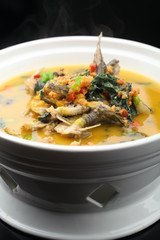 Chili pepper catfish in the bowl